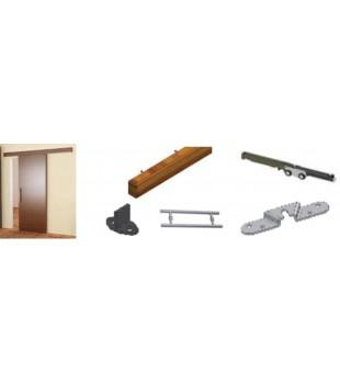 Комплект  плъзгане за дървена врата 940080
