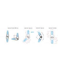 Уплътнение стъкло/стъкло 6-8 mm.180 магнит 7777-1901.2500-180