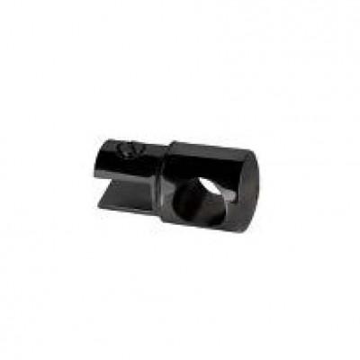 Конектор тръба-стъкло, проходен, масивен месинг, черен мат, за стъкло от 6 до 10 мм дебелина Код: 15.24.103-4