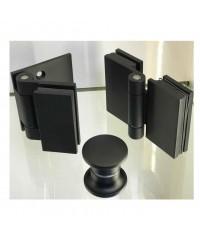 Панта стена-стъкло Хармония, масивен месинг, покритие черен матза стъкло от 6 до 10 мм дебелина Товароносимост - 18 кг/брой Код: 4444 HWGB