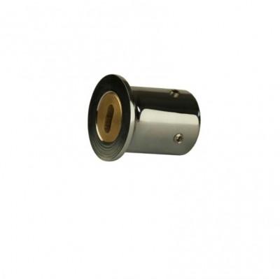 Конектор стена-тръба, масивен месинг, черен мат, за тръба ф 19 мм Код: 15.24.100-4