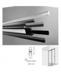 Черни двукомпонентни  магнити - челен  за 6 и 8 мм стъкло за душ кабини Комплект магнити на: 2.2 метра 1411