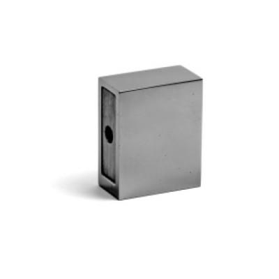 Конектор стена-шина, полирана неръждаема стомана, за шина 10х30 мм AP S002-4-2