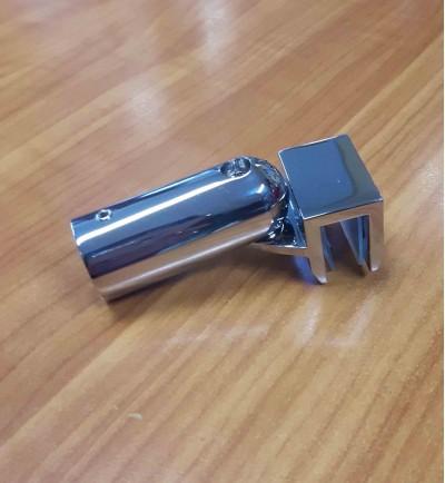 Конектор стена-тръба раздвижен, масивен месинг, покритие хром, за тръба ф 19 мм AP S001