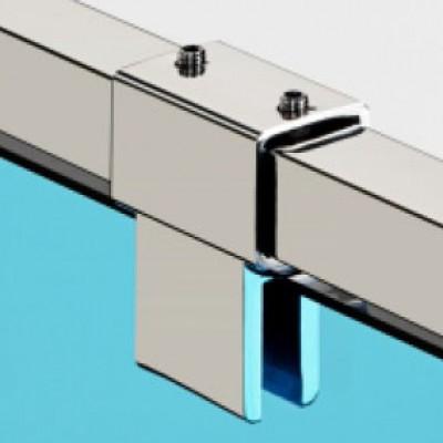 Конектори  полирана неръждаема стомана Скарбъроу тръба-стъкло проходен скарбъроу KAS 102