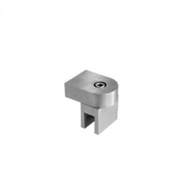 Конектор шина-стъкло краен, раздвижен,полирана стомана, за стъкло от 8 до 10 мм 45045-HL47-SPS