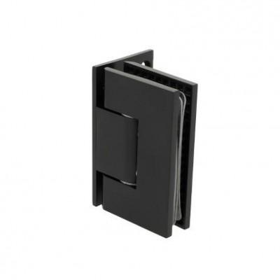 Панта стена-стъкло Г-образна, масивен месинг, черен мат, за стъкло от 6 до 10 мм дебелина Товароносимост - 18 кг/брой Код: 15.24.012-4