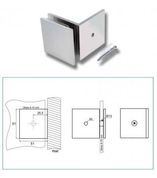 Стъклодържач стена/стъкло В