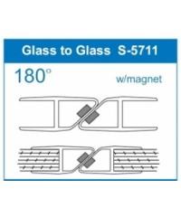 Уплътнение стъкло/стъкло 6mm.180 магнит