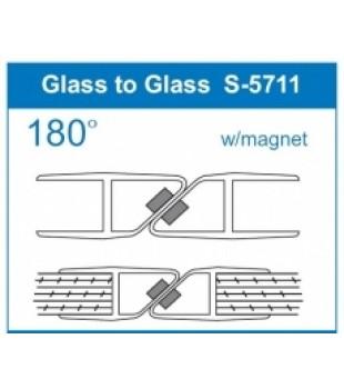 Уплътнение стъкло/стъкло 12mm.180 магнит 15.22.308