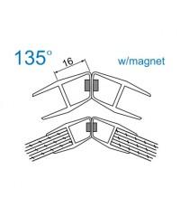 Уплътнение стъкло/стъкло 6mm.135 магнит