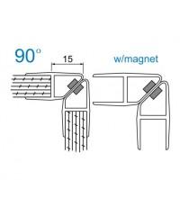 Уплътнение стъкло/стъкло 6mm.90 магнит