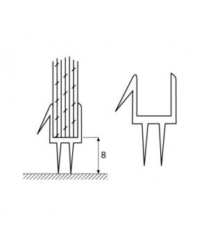 Уплътнение стъкло/под 8mm. - водобран 45045-S0-291-2.2