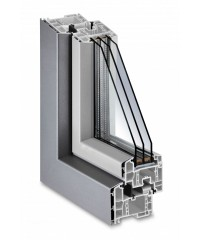 Троен стъклопакет бяло/бяло/бяло 444