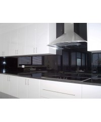 Black Lacobel Splashbacks